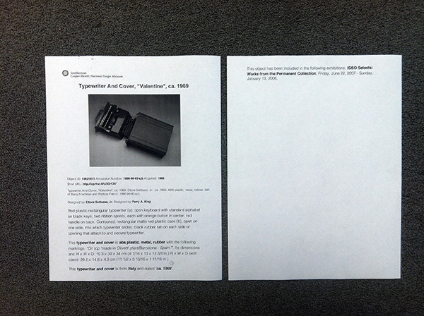 Printout of Object #18621871 after stylesheet. Much better.